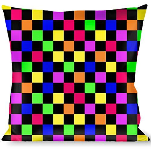 Buckle Down Owls Monogram Black//White Throw Pillow Multicolor