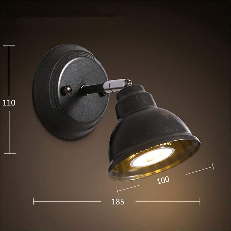 Wandleuchte Wandleuchten Wohnzimmer Schlafzimmer Nachttischlampe Wandlampe Wandleuchte im amerikanischen Stil Tv-Wandlampen Loft-Wandleuchten Einzelne Wandleuchte aus Eisen Eisen [Energieklasse A ++]