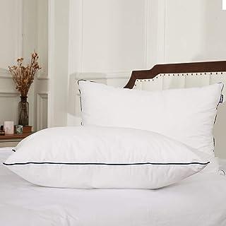 weichuang Almohada de gel para dormir, suave colección de hotel, almohada de altura ajustable (color: blanco, tamaño: estándar)