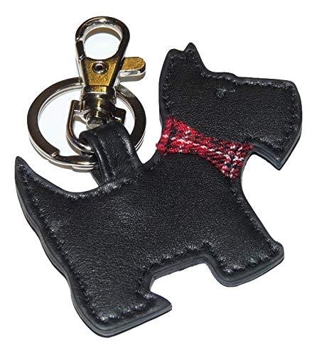 Mala Leather Portachiavi in pelle a forma di cane Scottie, con confezione regalo