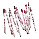 CUTICATE 12 Piezas De Larga Duración De Maquillaje De Labios Lápiz Lápiz Delineador De Labios Lápiz Delineador De Labios Crayón