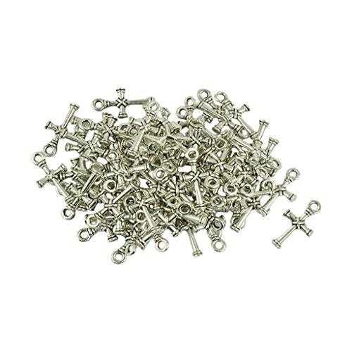 Jili Online 50 Pieces Tibetan Silver Celtic Cross Knot Charm Pendant Beads for Jewelry Making DIY Bracelet Necklace
