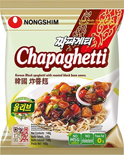 Nong Shim Instantnudeln Chapaghetti – Traditionelles koreanisches Nudelgericht - Instantnudeln - schnelle Zubereitung – 20er Vorteilspack à 140g