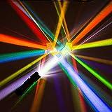 YEZIB - 2 unids 2.2x2.2x2.2cm Vidrio óptico Prisma Educativo Cruzado dicroico X-Cubo Prismas de Vidrio RGB Decoración de combinador de Cristal Divisor Prisma para el Laboratorio Escolar.