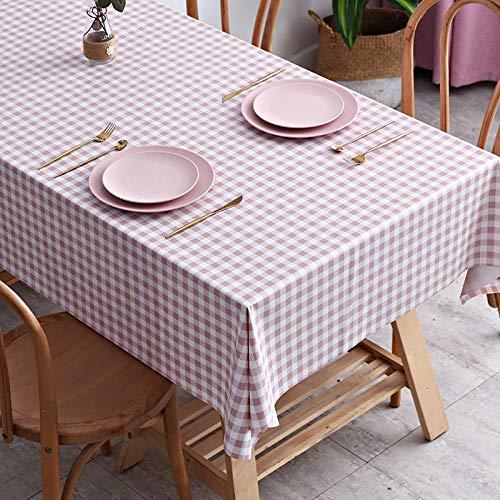 ZXCN Mantel de Mesa con Efecto Loto Lavable PVC Resistente Al Desgaste Impermeable Resistente a La Suciedad Resistente Rosa 90×150cm