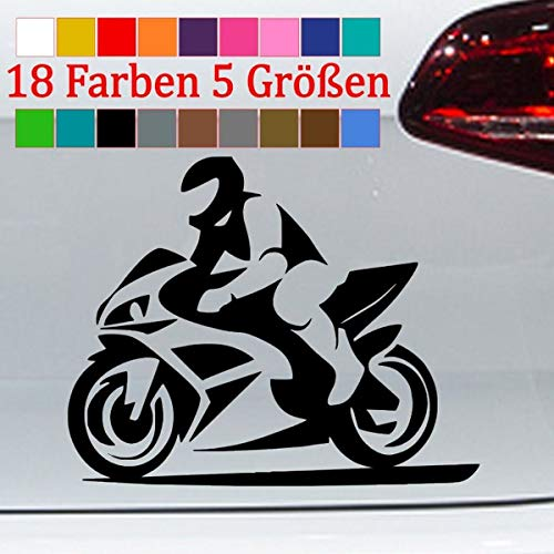 Generisch Motorrad Aufkleber Silhouette Biker Auto Bike Sticker JDM Yamaha R1 R6 5 Größen