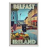 Vintage Belfast Nordirland Straßenreise Poster Leinwand