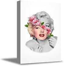 "Funny Ugly Christmas Sweater Marilyn Monroe Wall Art Monroe Canvas Poster Cute Home Decor Marilyn Monroe Flower Wall Decor 8"" x 12"""