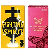 グラマラスバタフライ モイスト500 6個入 + FIGHTING SPIRIT (ファイティングスピリット) コンドーム Sサイズ 12個入