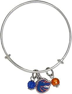 Fan Frenzy Gifts NCAA Boise State University Bangle Bracelet w/Color
