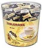 Toblerone - Mix chocolat au lait, chocolat noir et chocolat blanc - Tubo de 113 mini Toblerone (904g)