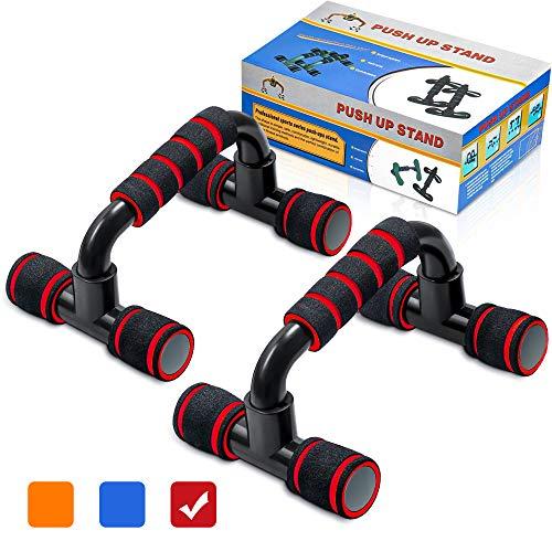 arteesol 2er-Set Liegestützgriffe, Push Up Stand Bar, Griffe Liegestütze, für Fitness/Krafttraining/Brusttraining, schwarzen Fitnesshandschuhen