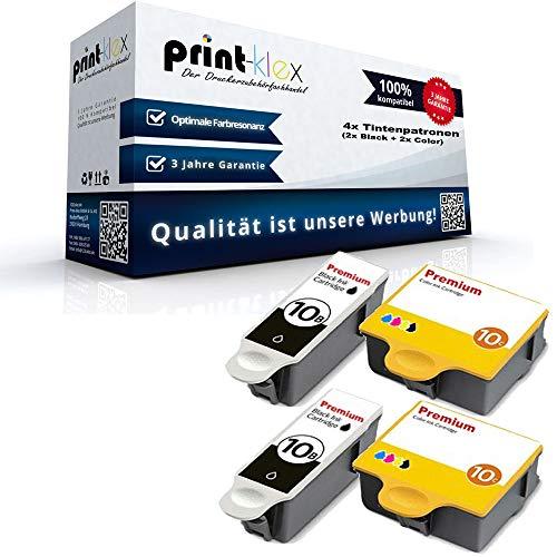 4X Print-Klex Tintenpatronen kompatibel für Kodak ESP 5220 ESP 5230 ESP 5250 ESP 7 ESP 7250 ESP 9 ESP 9250 ESP Office 6150 8955916 NO 10 8955916 NO10 BK C M Y - Office Print Serie