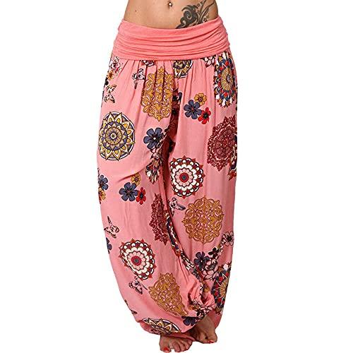 Pantalones Anchos De Pierna Ancha Impresos De Moda Pantalones Casuales Pantalones HaréN