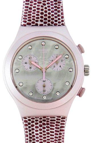 Swatch Lady Snake YCP1000 - Reloj de Mujer de Cuarzo, Correa de Piel Color Rosa