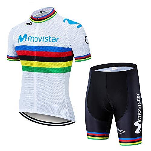 Maillot Ciclismo Hombre Ropa Ciclismo y Culotte Pantalones Acolchado 3D para Deportes al Aire Libre Ciclo Bicicleta