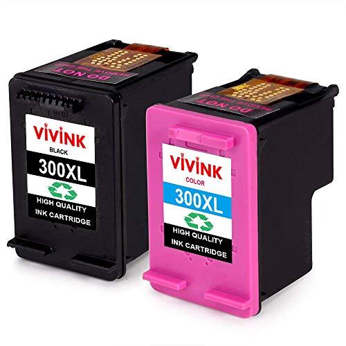 VIVINK 300 XL 300XL Patronen Ersatz für HP 300 Druckerpatronen Kompatibel für HP DeskJet F2480 F4580 F4280 D1660,für HP Envy 120 100 110 114, für HP PhotoSmart C4780 C4680 C4670(1Schwarz,1Farbe)