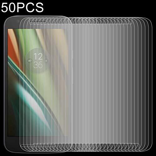 Zhangl Película de Cristal Moderada del teléfono móvil 50 PCS 0.26mm 9H 2.5D película de Vidrio Templado for Motorola Moto E3 Película de Vidrio Templado