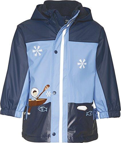 Playshoes Jungen Regen-Jacke Eskimo Regenmantel, Blau (11 Marine), 80