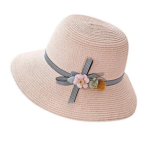 RISTHY Sombrero de Paja Sombrero de Sol Plegable Gorro de Pescador Gorro...