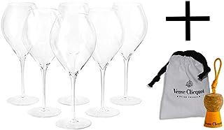 Veuve Clicquot Champagner Gläser Prestige Flöte Box Set Champagnerglas Champagnergläser Glas 6 Stück  Schlüsselanhänger
