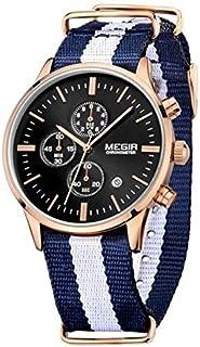 ساعة للرجال من ميجر، سوار قماش، كرونوغراف، M-2012