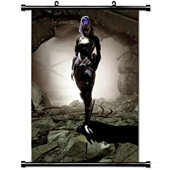 Wall Posters Wall Scroll Poster with Mass Effect Tali Zorah Wall Hall Light Shadow Home Decor Fabric Painting 23.6 X 35.4 Inch