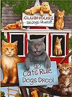 ダイヤモンド絵画ダイヤモンド刺繍DIYダイヤモンド絵画漫画動物猫ダイヤモンド刺繍セールかわいい猫5D動物犬ダイヤモンドステッチ写真ホリデーギフト-Yellow_30X40CM