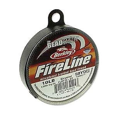 FireLine Braided Beading Thread 10lb CLEAR .010 In 50 Yards
