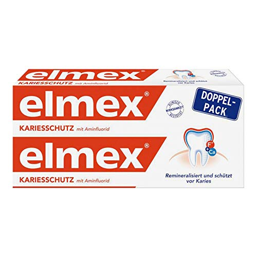 elmex KARIESSCHUTZ Zahnpasta Doppelpack, 2x 75ml