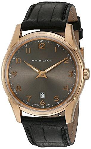 Hamilton Jazzmaster - Reloj automático de cuarzo suizo para hombre, color negro (modelo: H38541783)