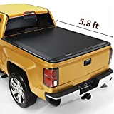 YITAMOTOR Soft Roll Up Truck Bed Tonneau Cover Compatible with 2014-2018 Chevy Silverado / GMC Sierra 1500, Fleetside 5.8 ft Bed
