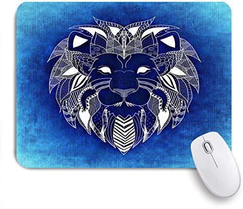 Marutuki Gaming Mouse Pad Rutschfeste Gummibasis,Der König der Löwen Creative Animal Decorative Blue,für Computer Laptop Office Desk,240 x 200mm