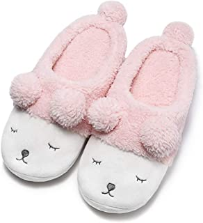 GaraTia Warm Indoor Slippers for Women Fleece Plush Bedroom Winter Boots
