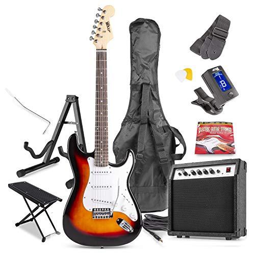 Max GigKit Full Size Electric Guitar Starter Kit inc 40W Combo Amplifier,...