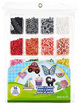 Perler Beads Stripes And Pearls Assorted Fuse Beads Tray For Kids Crafts 4000 pcs