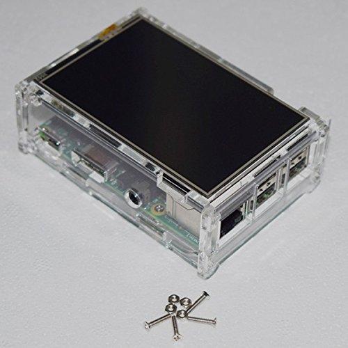 ILS - DIY plexiglas-box doos Shell met schroef voor 3,5-inch TFT-scherm en Raspberry Pi