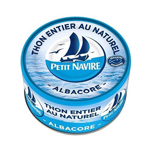 Petit Navire Thon Entier au Naturel Albacore 132g (lot de 5)