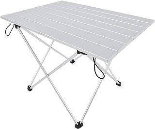 eSituro SCPT0014 Table de Pique-Nique Pliables en Aluminium avec Sac de Rangement pour Voyage,Table de Camping,Table Pliable de Jardin en Argent