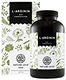 NATURE LOVE L-Arginin - Vergleichssieger 2019* - 365 vegane Kapseln. Hochdosiert: 4500mg L-Arginin...