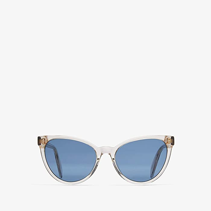 Alexander McQueen  AM0111S (Beige/Blue) Fashion Sunglasses