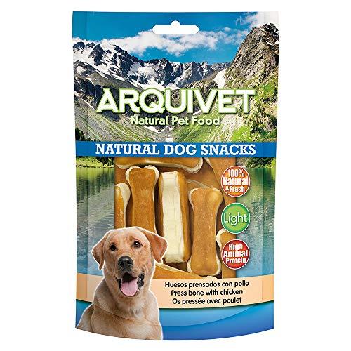 Arquivet Natural Dog Snacks Huesos prensados con pollo - Snacks perros - 100 g