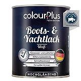 colourPlus® 1K Bootslack & Yachtlack (750ml, weiß) Bootslack Holz - Schiffslack - Bootslacke - Boot Lack - Klarlack Holz - Made in Germany