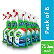 Dettol Mould and Mildew Remover Spray, 750 ml, Pack Of 6