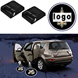 2Pcs For Saints Car Door LED Projector Logo Lights Wireless Welcome Courtesy Ghost Shadow Lamp Fit for All Cars