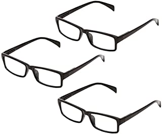 One Power Glasses Readers Pack of 3 Read Small Print and Computer Screens Adjustable Eyeglasses Flex Clear Focus Auto Adju...