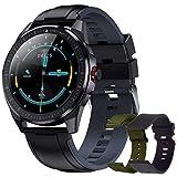Montre Connectée Homme Smartwatch Podometre Etanche IP68 Bracelet Tensiomètre Intelligente Fitness Tracker Chronometre pour Android/iOS