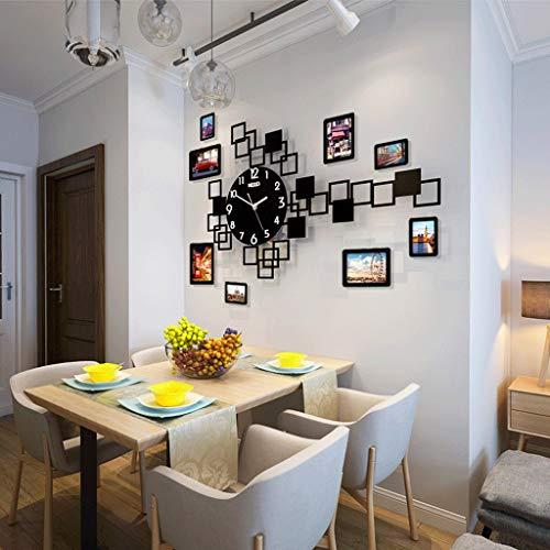 Horloge Créative Horloge Murale Salon Personnalité Créative Horloge De Mode Créative Tendance Carré Montre Murale Décoration Horloge Muet