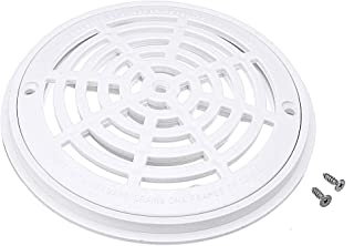 8 Inch White Pool Main Drain Cover Replacement Pool Drain Cover with Screws Fit for Swimming Pools Accessary
