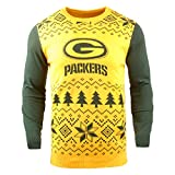 NFL Bay Packers Two-Tone Cotton Ugly Sweatertwo-Tone Cotton Ugly Sweater, Green, Large